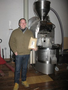 Jim Munson with the Loring roaster