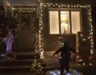"One house on 10th Avenue played homage to ""A Christmas Story"" with a leg lamp, ""fragile"" box and lifesize replicas of Ralphie and Randy."
