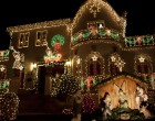 Many of the larger houses in Dyker Heights are completely covered in decorations.