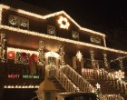 While colorful displays are abundant, some homes stick with mostly white lights.