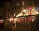 86th Street is one of the main Christmas light thoroughfares.