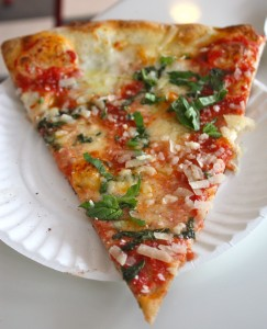 The margarita slice at Williamsburg Pizza, one of our favorite new spots this year. Photo: Brenden Spiegel