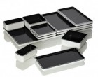 Sushi or tapas, brunch or cocktails, the interlocking Pantone Food Trays can be used in a variety of combinations.