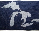 Haptic Lab's Great Lakes quilt, for the displaced Midwesterner on your list