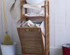 A hamper that hides your dirty clothes and offers storage space.