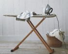 You can adjust the height of this bamboo ironing board for easier ironing. $79.95