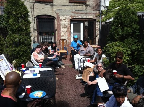 The Women Writers in Bloom Poetry Series gathers at the Park Slope home of Pamela L. Laskin,  poet and CCNY English instructor.