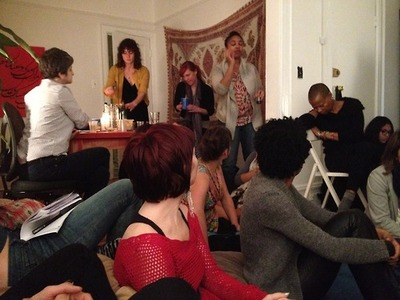 The November installment of the BLT Salon was held in an apartment near Grand Army Plaza. Photo: Jordan Galloway