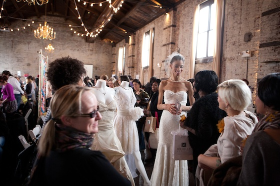 Here comes the Brooklyn bride (Photo: Sophie Matthewson)
