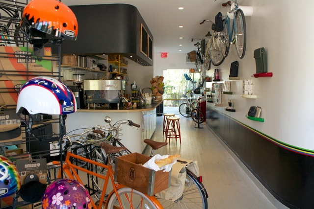 Inside you'll find bikes, juice and more bikes. Photo: Juice Pedaler