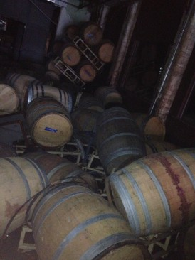 Barrels and barrels of aging wine were submerged in the storm surge. Photo: Red Hook Winery