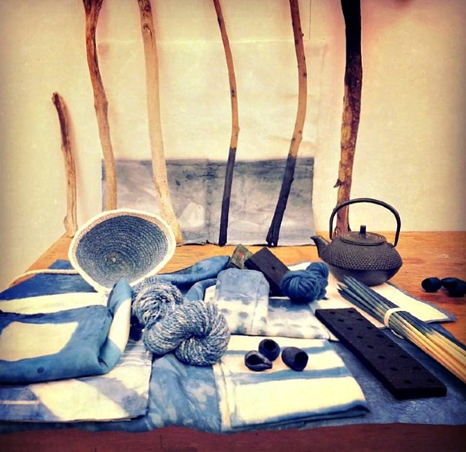 Offsiters will take home items made during workshops, including naturally dyed fabrics. Photo: Cathy Hsiao
