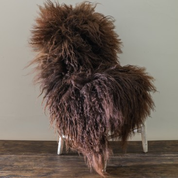 Huling worked directly with a farm upstate during its breeding process to procure sheepskins in rich chocolate and caramel colors for this spring. Photo: Marlow Goods