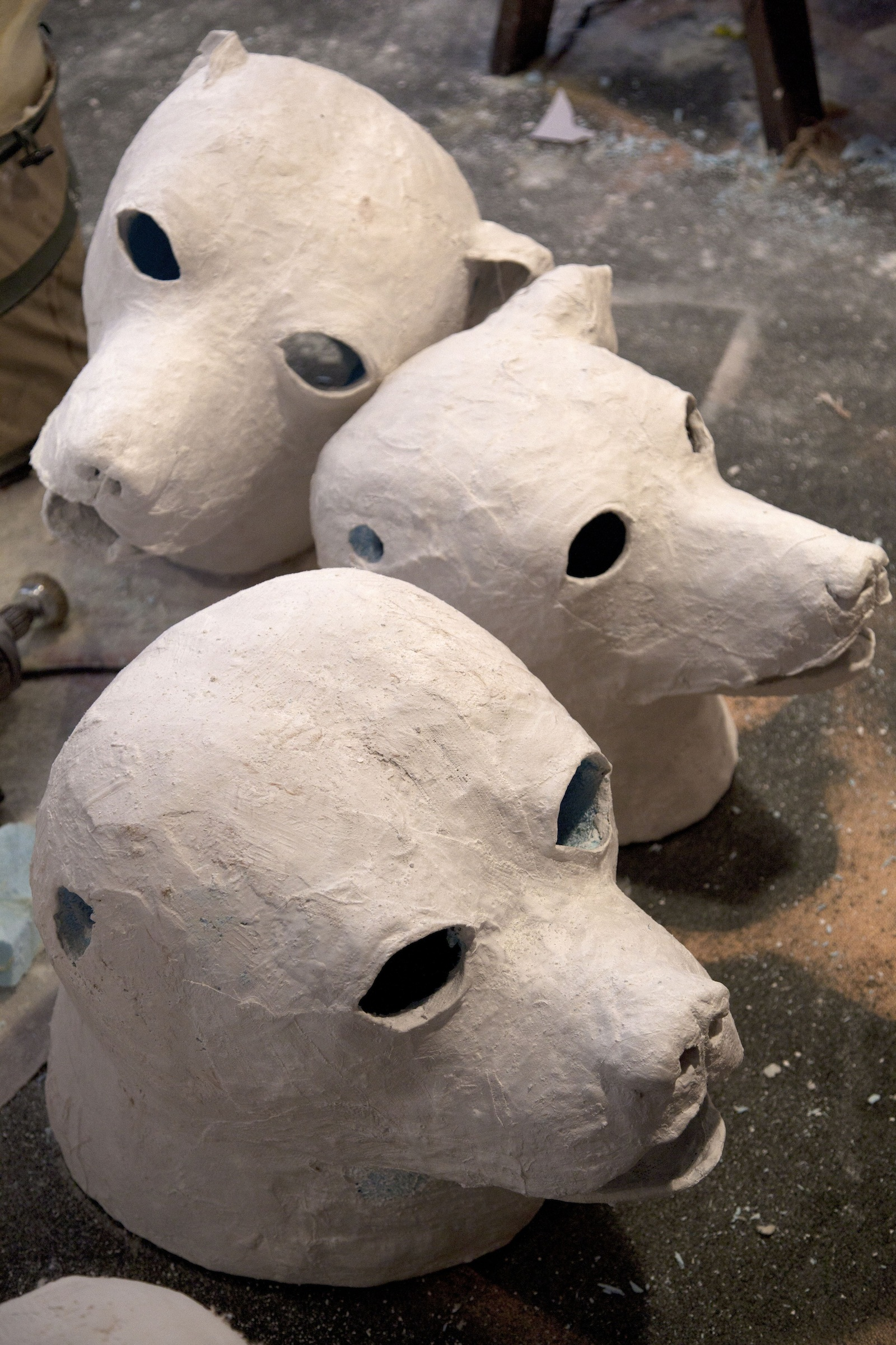 The Art Of The Paper Mache Dog Head Michael Ballou At