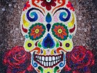 """Sweet Death,"" a mosaic created by Kevin Champeny with over 33,000 hand-cast, urethane pieces of candy, is part of Jellio Design Lab's first exhibition: Photo: Kevin Champeny"