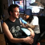Stephanie Tamez, at work at Saved Tattoo in Williamsburg.