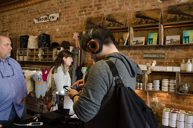 Grado gave audiophiles a chance to check out the sound from their high-end headphones during a Meet & Greet at By Grooklyn in April. Photo Grado Labs