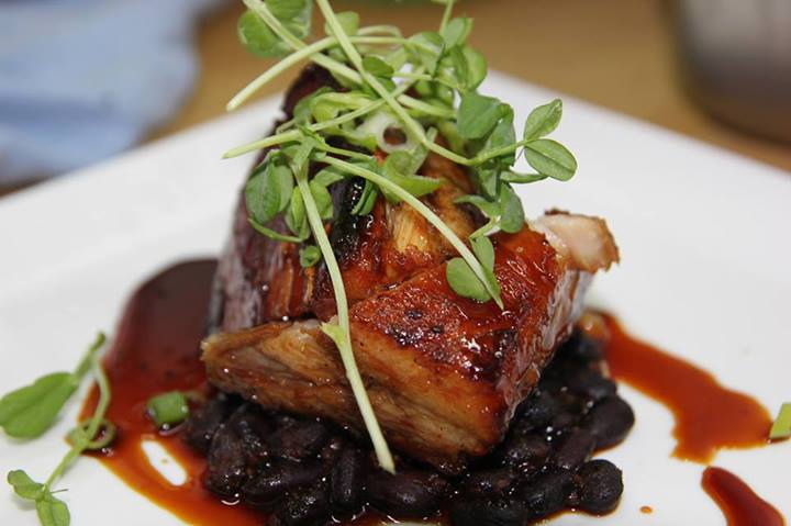 korean pork belly and black beans