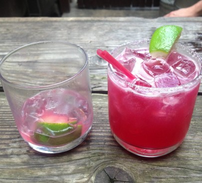What says summer better than a pink drink on a picnic table? Photo: BB
