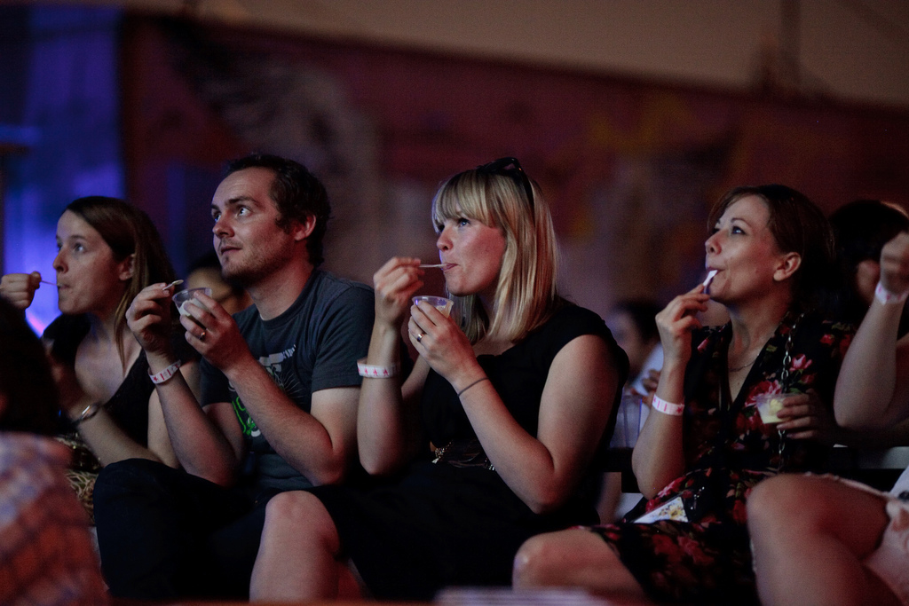 Diners at a previous iteration of the Festival. [Photo: Courtesy Food Film Festival]