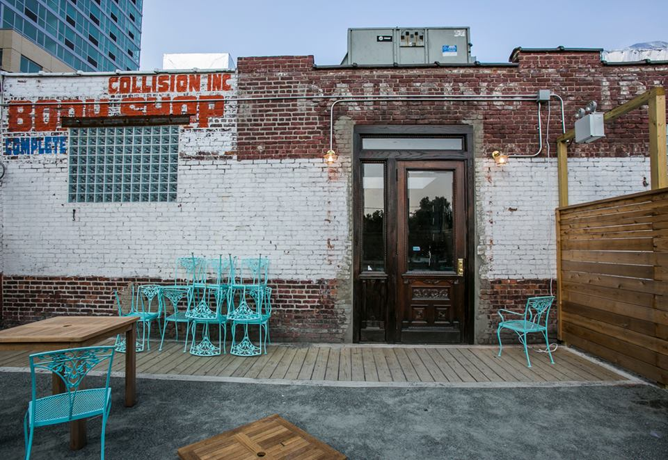 M. Wells Steakhouse opened last week in a rehabbed auto body shop in LIC. Photo: M. Wells