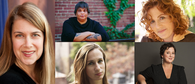 The authors interviewed (clockwise from left): Lydia Millet, Roxane Gay, Ayelet Waldman, Julia Fierro, Adelle Waldman