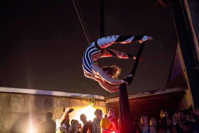 Aerialists, two main stages, more than a dozen DJs and bands, illuminated art installations, Burning Man Art Cars, body painting, and hundreds of fellow revelers await you at BangOn!'s New Year's party.
