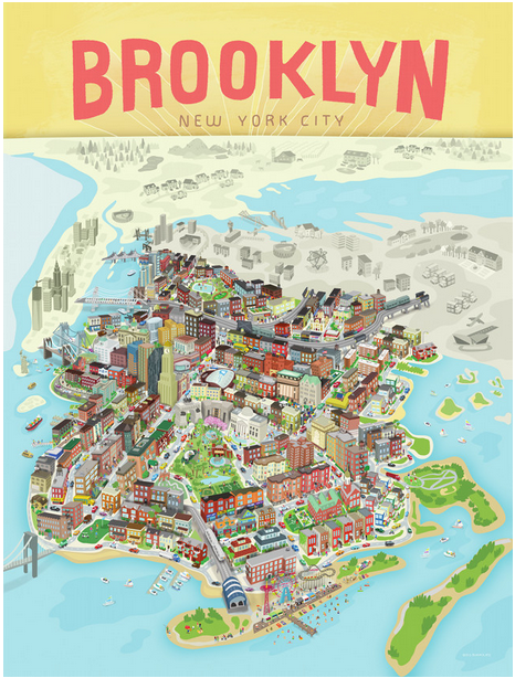 Brooklyn Poster Brooklyn the Way You Envision It Brooklyn Based