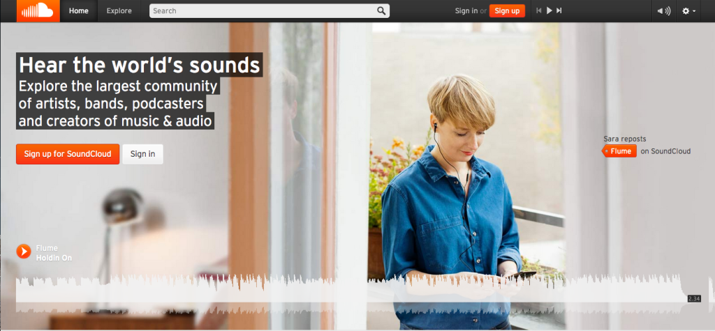 There's so much more to SoundClound than scratch demos from unknown artists. Photo: SoundCloud