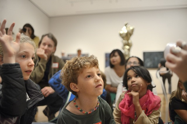 The MoMA Family Programs Tours for Fours, part of MoMA's Family Day programming. It's worth borrowing a kid for a day just to take advantage of the free admission.  Photo: Martin Seck