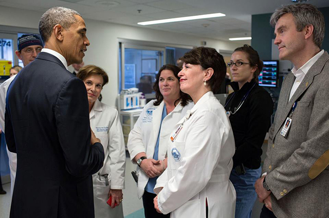 As the open enrollment deadline for Obamacare approaches, approximately 16% of Brooklynites are still uninsured. Photo: BarackObama.com