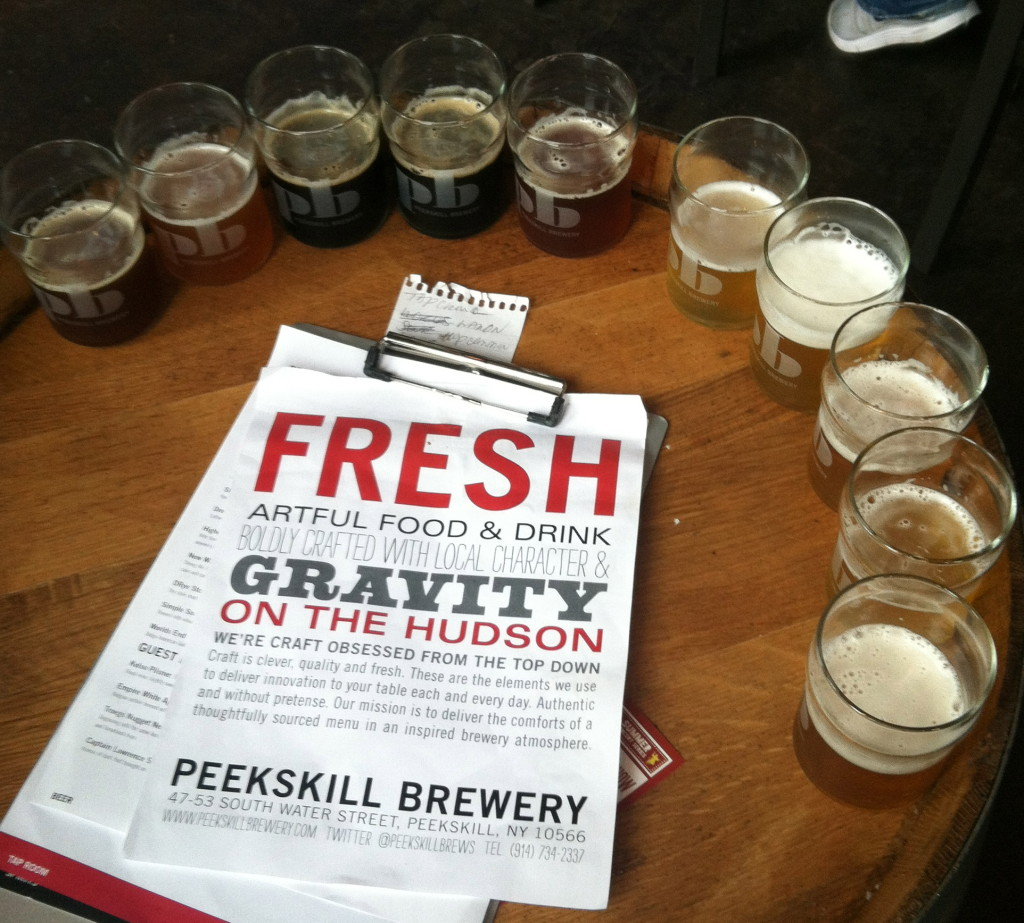 Try a beer flight at the Peekskill Brewery. Photo: Gabrielle Sierra