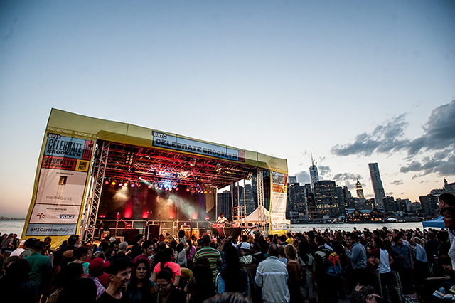 Outdoor concert season begins next week with Celebrate Brooklyn's dance parties in Brooklyn Bridge Park. Photo: Celebrate Brooklyn!