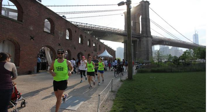 At three days, the New Balance Brooklyn Half Pre-Party in Brooklyn Bridge Park is longer than the race itself. Photo: New York Road Runners