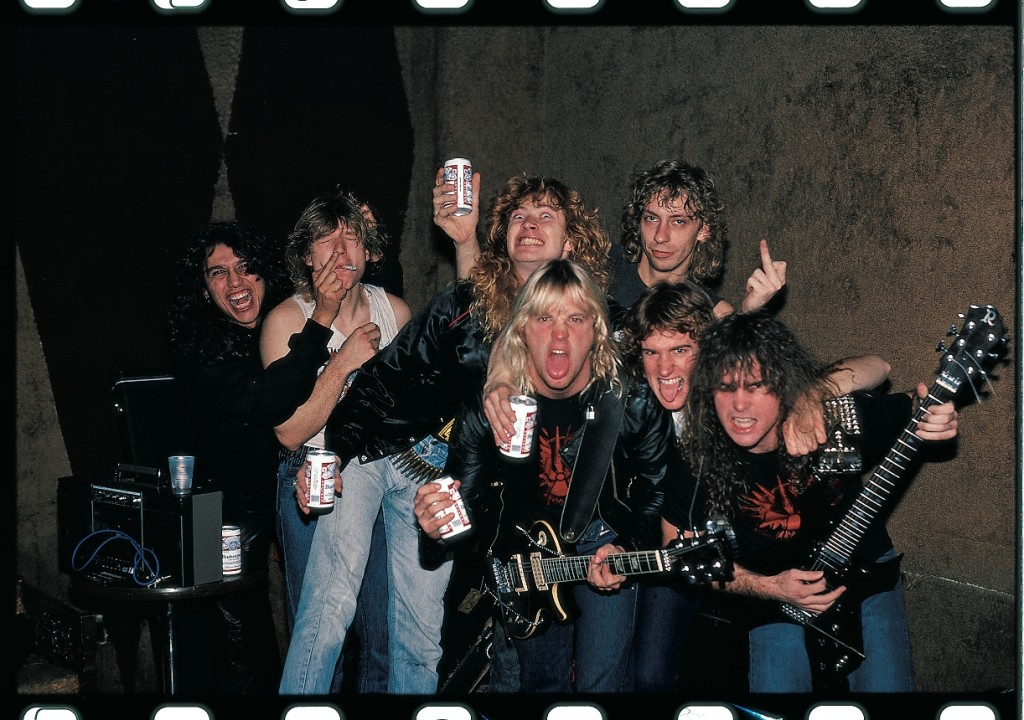 An early photograph featuring Megadeth and Slayer (Kevin Hodapp)