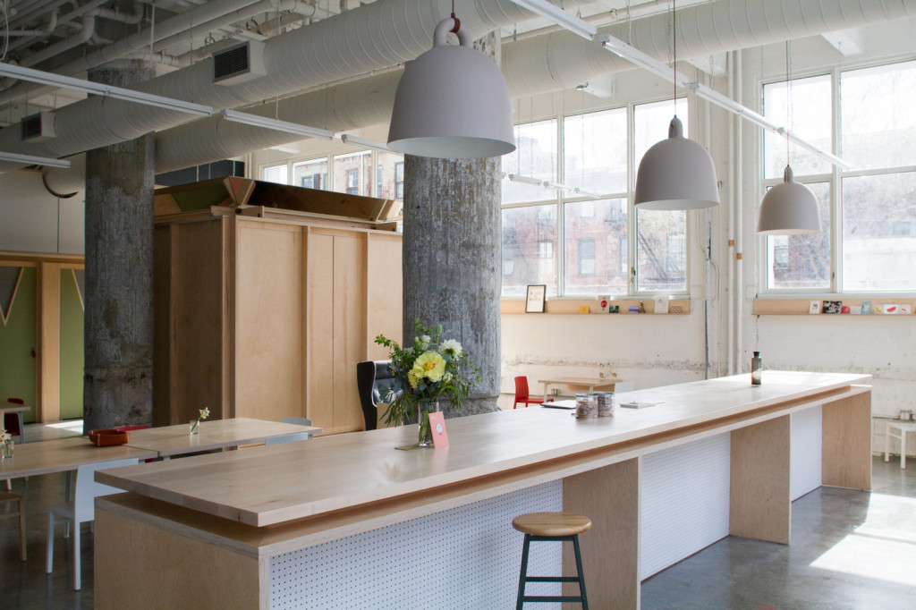 Makeshift Society opened its first East Coast work space on May 1 in Williamsburg. Photo: Makeshift
