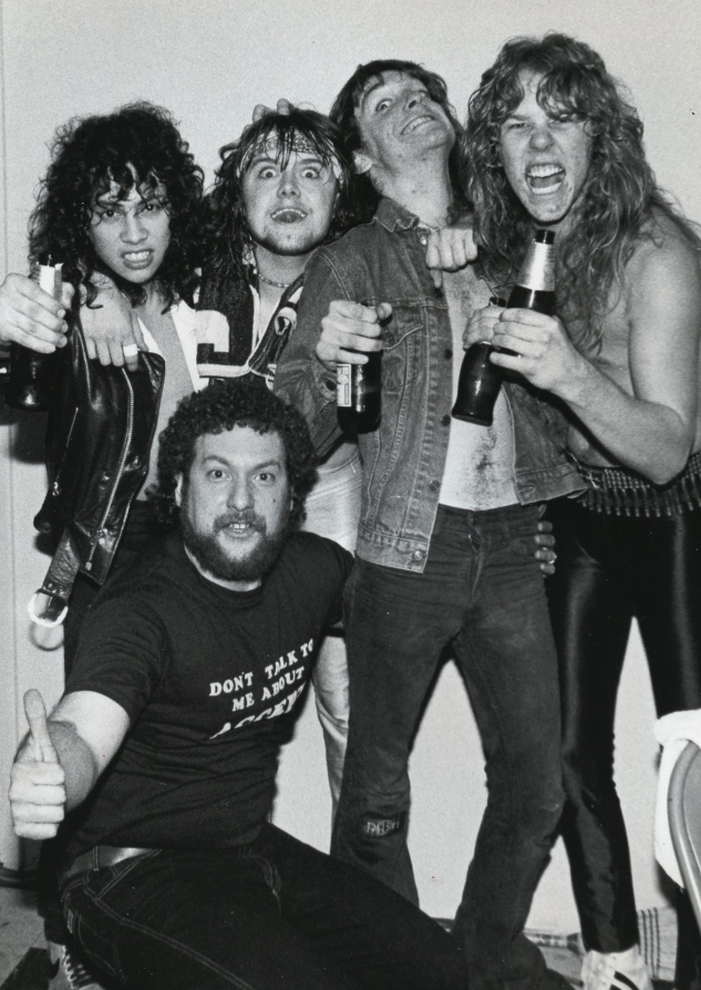 Megaforce Records founder Jonny Zazula with members of Metallica in their early years. (Kevin Hodapp)
