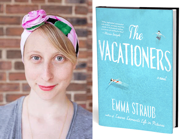 Emma Straub discusses her new fictional tale of family disfunction, The Vacationers on June 24 the Inkwell Cafe. Straub photo: Jennifer Bastian
