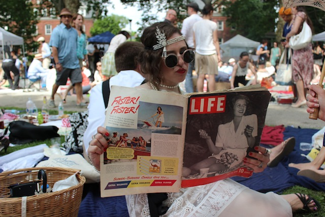 Jazz-age appropriate reading material made an appearance at this weekend's lawn party. Photo: Gabrielle Sierra