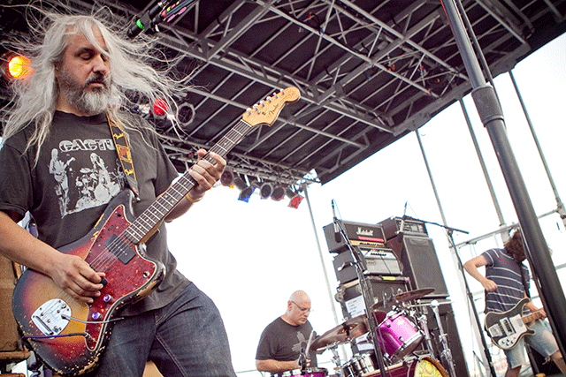J. Mascis made a rare appearance on July 12 to headline the Village Voice's annual 4Knots Music Festival with his band Dinosaur Jr. Photo: Bryan Bruchman