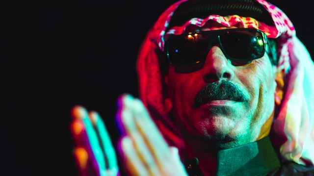 Omar Souleyman, Syrian wedding singer turned dance, plays at Glasslands next Thursday, August 7. Photo via NPR