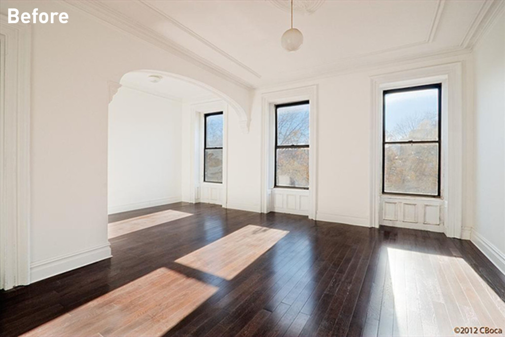 Carolyn Murnick, and editor at New York Magazine, hired Homepolish to help her turn her Bed-Stuy apartment from this...