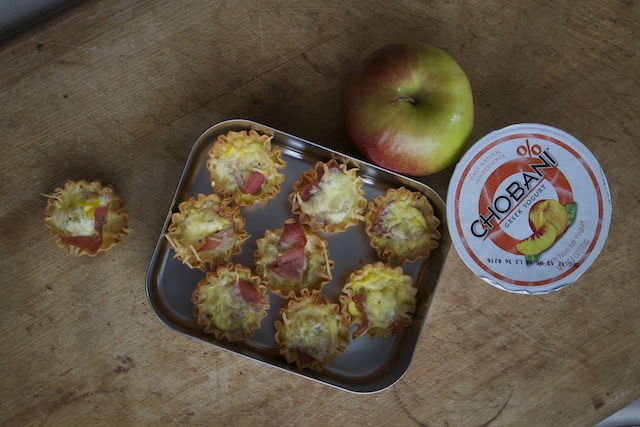 One way to break out of the same sandwich rut: mini quiches, something Lunchboxblues blogger JM Hirsch packs for his son. Photo courtesy JM Hirsch