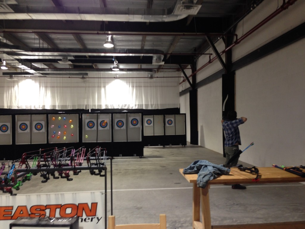 Practicing archery is actually surprisingly relaxing. Photo: Brooklyn Based