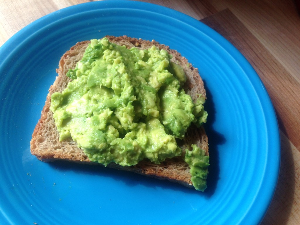 Mashed avocado on multi-grain toast--avocado toast--is more than the sum of its parts. Photo: Annaliese Griffin
