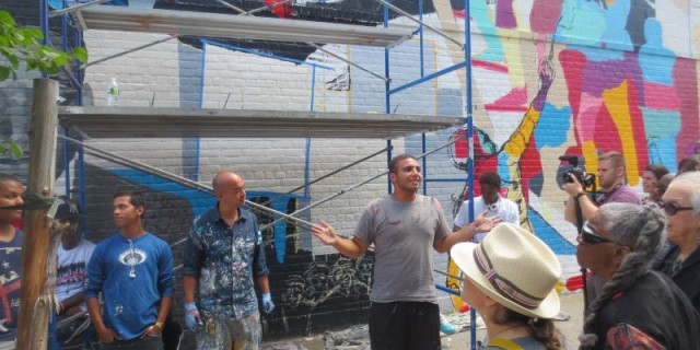 Get outside this weekend and explore Gowanus during its open studios event, filled with art walks like a tour of the area's four Groundswell murals. Photo: Groundswell
