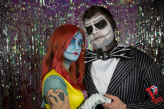 Littlefield's Zombie Prom, complete with a blood splattered photobooth. Photo: Jacob Boller