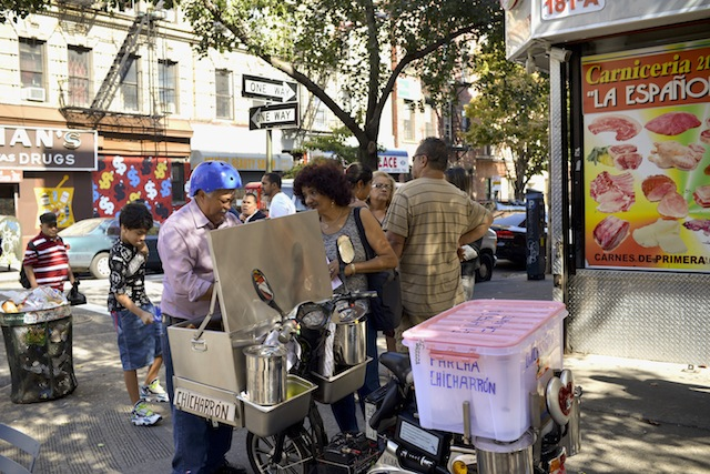 During a self-guided tour of South Williamsburg organized by UnionDocs, you'll hear stories of neighborhood fixtures like the Puerto Rican man who sells piraguas. Photo: Shannon Carroll