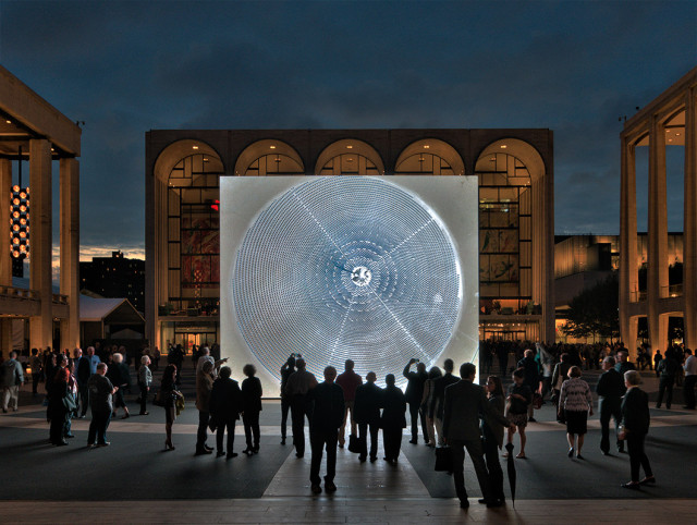 If you're playing tour guide this week or have time for a Manhattan field trip, check out John Gerrard's Solar Reserve before the massive LED screen outside Lincoln Center disappears. Photo: Inaki Vinaixa