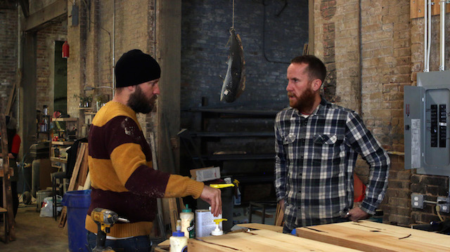 Matt and Steven Loftice have moved production from their kitchen to a warehouse in Red Hook. Photo: Levi Sharpe